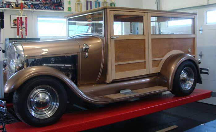 1929 Ford Phantom Woody Dan and Becky Pulley